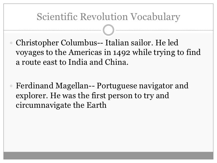 the influence of the scientific revolution Start studying the scientific revolution and renaissance and reformation learn vocabulary, terms, and more with flashcards, games, and other study tools.