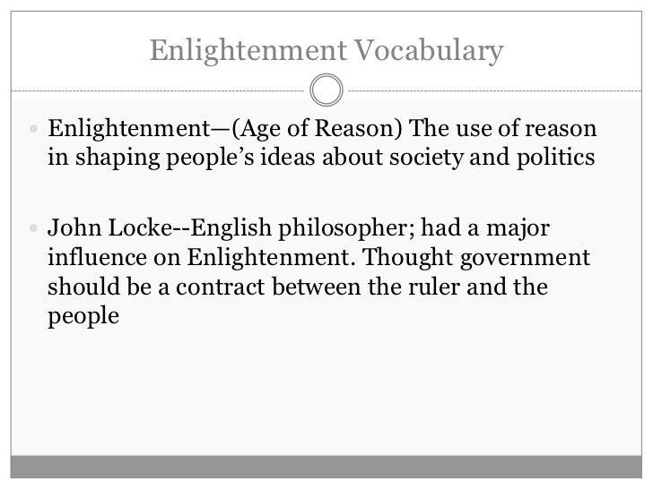 Scientific Revolution and Enlightenment Vocabulary