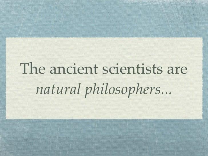 Natural Philosophers Vs