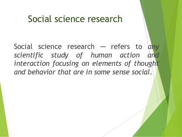 Social science study