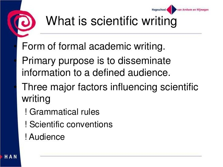 write a scientific essay Secrets of good science writing as the deadline looms for entries to the wellcome trust science writing prize a feature is not an essay regurgitating facts.