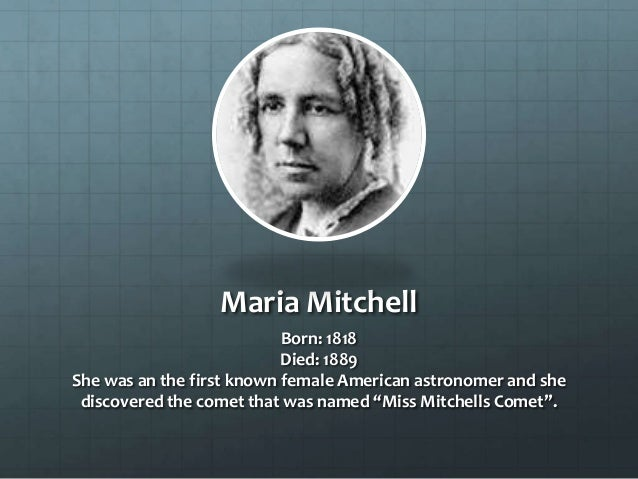 About Maria Mitchell