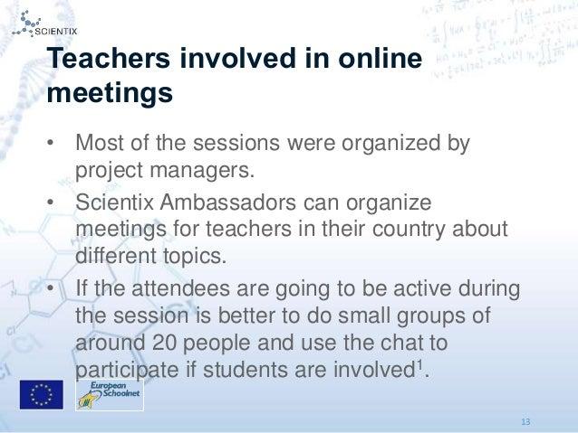 Connnecting science teachers in Europe using online meetings