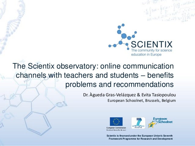 Scientix is financed under the European Union's Seventh Framework Programme for Research and Development The Scientix obse...