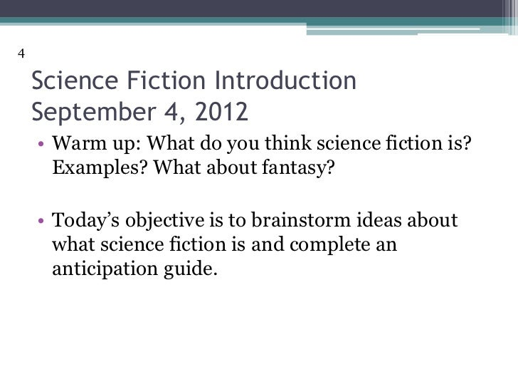an introduction to the analysis of science fiction Science fiction: introduction science fiction may strike one like a rather schizoid term, but although science and literature seem to reside at opposite ends of the .