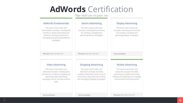 23 Google AdWords Getting started