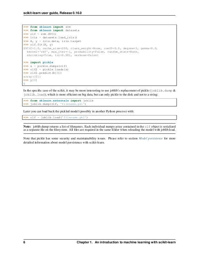 Scikit learn 0 16 0 user guide