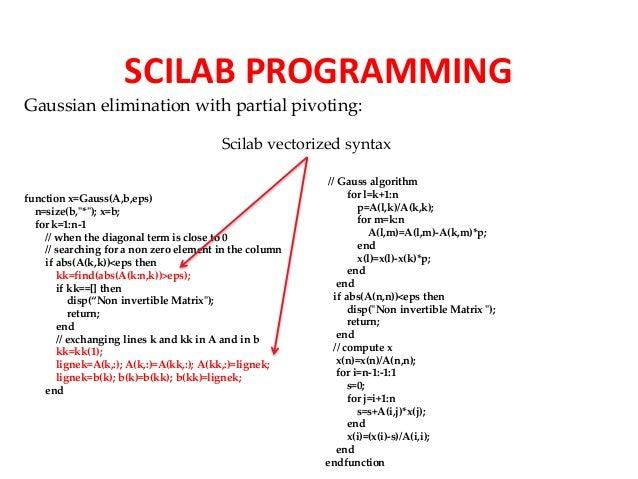 Scilab Presentation for Tech Talk Tuesday 21 July 2015