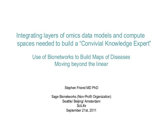 """Integrating layers of omics data models and computespaces needed to build a """"Convivial Knowledge Expert""""      Use of Bione..."""