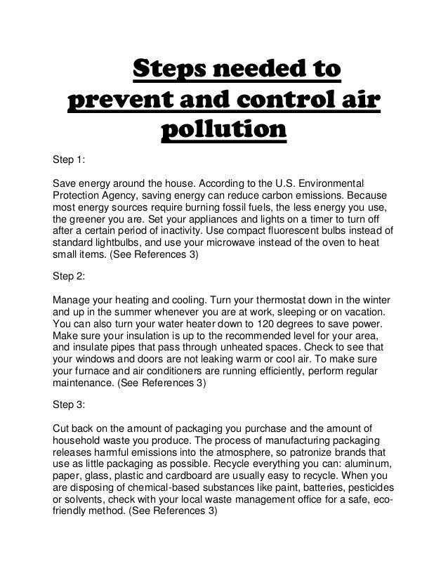 preventing air pollution essay