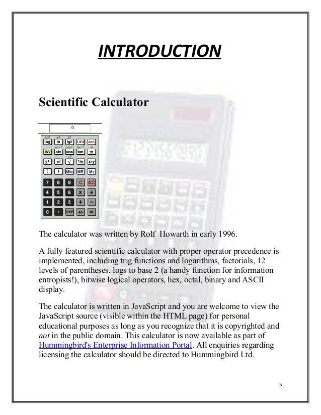 future scope of project 4 5 introduction scientific calculator