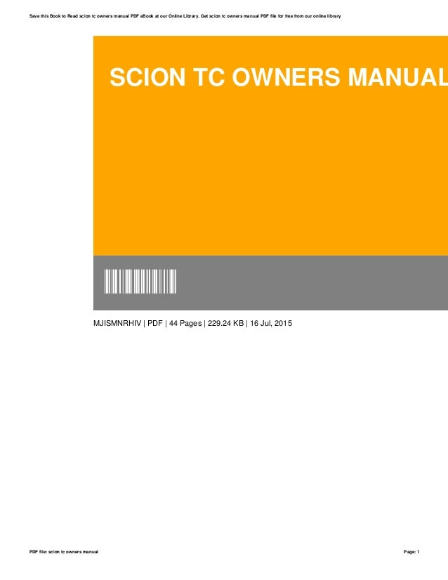 scion tc owners manual rh slideshare net scion tc owners manual online scion tc owners manual online