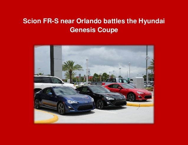 Scion FR-S near Orlando battles the Hyundai Genesis Coupe