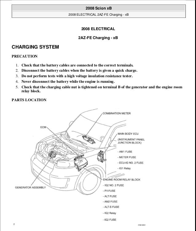 Scion xb 2008 service repair manual