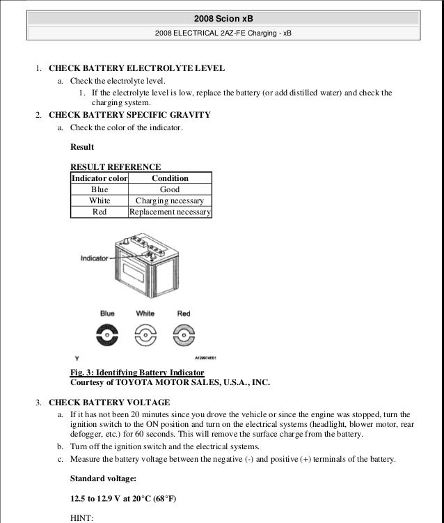 2008 scion xb repair manual