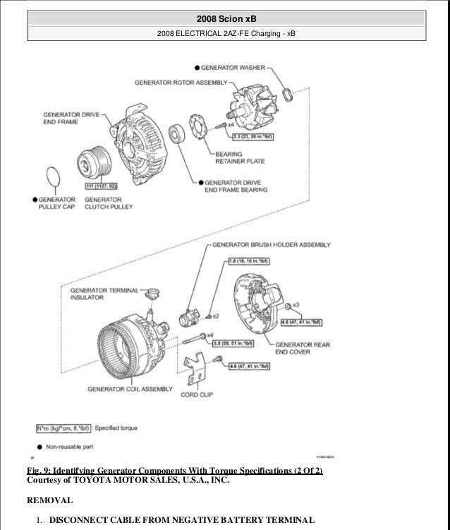 2008 Scion Xb Parts Diagram