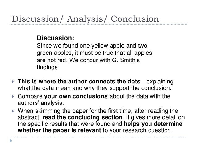 Discussion and conclusion dissertation