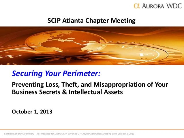Confidential and Proprietary – Not Intended for Distribution Beyond SCIP Chapter Attendees: Meeting Date October 1, 2013 S...
