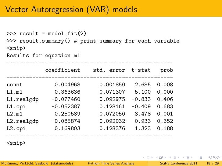 Scipy 2011 Time Series Analysis in Python