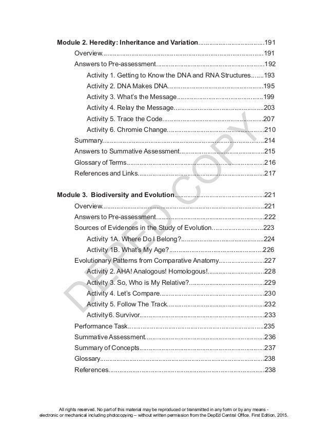 Biology unit 10 test array grade 10 sci module teacher u0027s guide unit 3 rh slideshare net fandeluxe Image collections