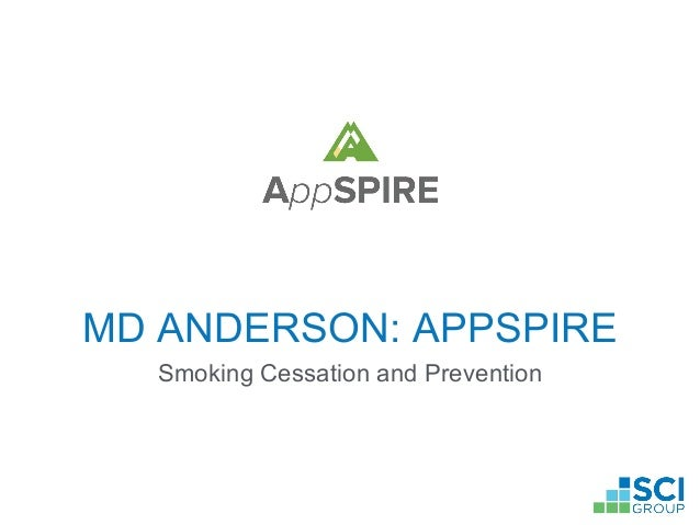MD ANDERSON: APPSPIRE Smoking Cessation and Prevention