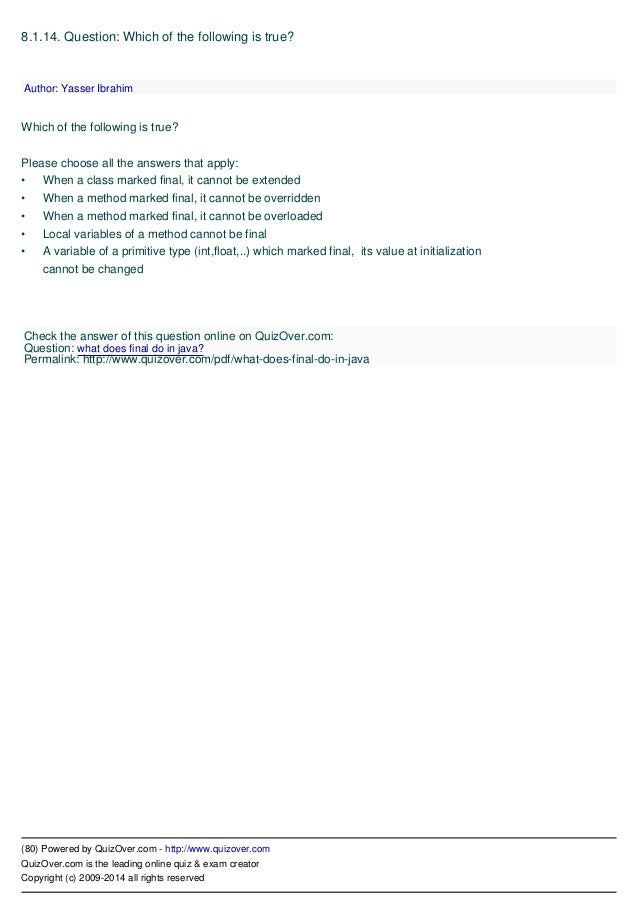 SCJP CERTIFICATION DUMPS IN PDF FORMAT FREE DOWNLOAD Nitin Dream on