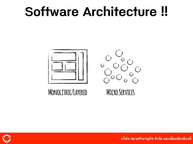 บริษัท สยามํานาญกิจ จํากัด และเพื่อนพ้องน้องพี่ Software Architecture !!
