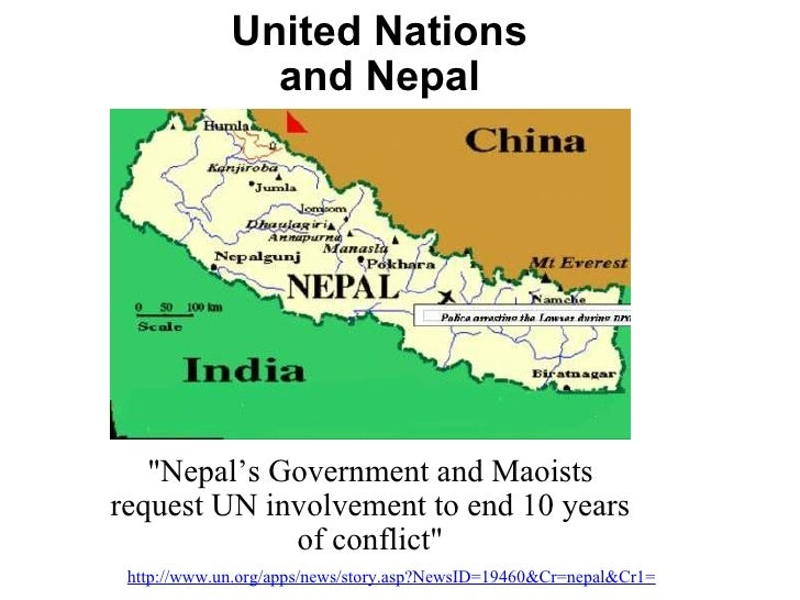 """United Nations and Nepal """"Nepal's Government and Maoists request UN involvement to end 10 years of conflict"""" htt..."""
