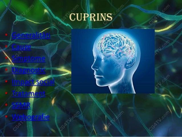 Cuprins• Generalităţi• Cauze• Simptome• Diagnostic• Impact social• Tratament• SSMR• Webografie