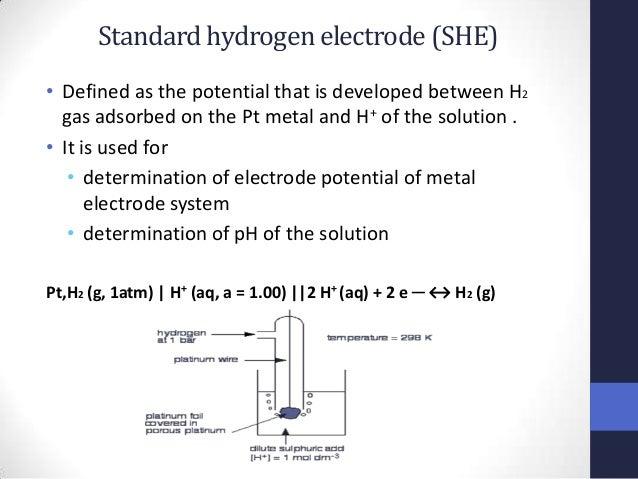 Potentiometry standard hydrogen ccuart Gallery