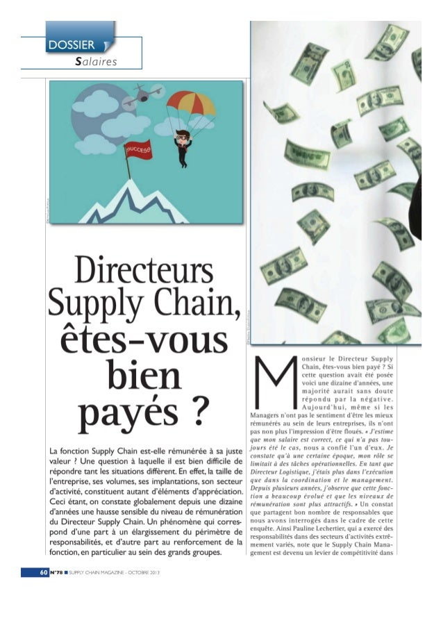 Dossier : Directeurs Supply Chain, êtes-vous bien payés ?