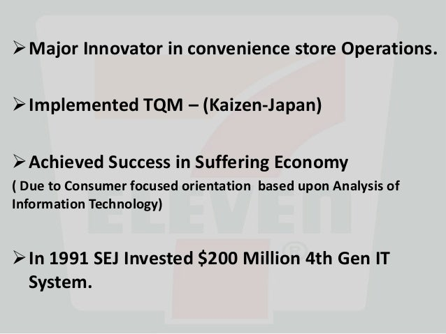 7 eleven japan supply chain management Management, they are a central 7-eleven japan, the point-of-sales systems, and superior performance 7-eleven japan (sej) is a successful company its 10,000 stores dominate the development and supply chain costs under the characteristically dynamic market, in.