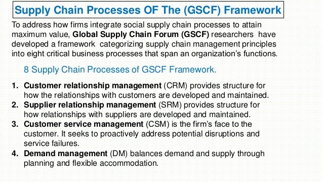 global supply chain forum