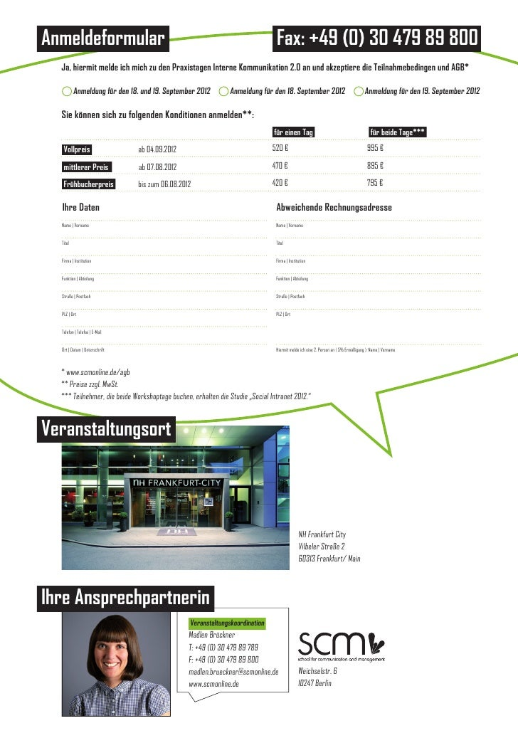 Anmeldeformular                                                                Fax: +49 (0) 30 479 89 800  Ja, hiermit mel...