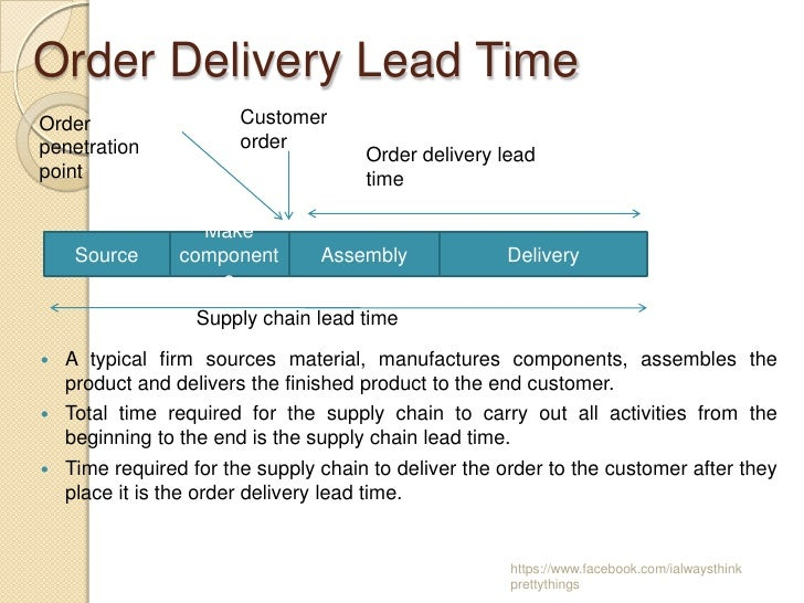 lead time compression in supply chain management Managing demand variability and volatility  the role of supply chain management is  or diverting supply from one customer to another) and time compression.