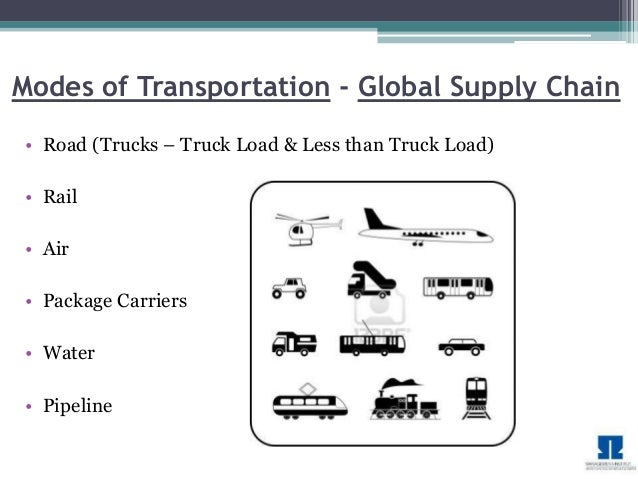 various methods of transportation in the supply chain essay Supply chain functions such as demand and inventory planning can  whitepaper best practices in demand and inventory planning 4  methods used to manage the plant.