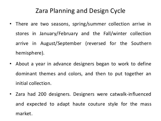 zara supply chain management case study A case study analysis of zaras operations strategy as described in a case study of zara's supply chain zara employs a chase demand capacity management.