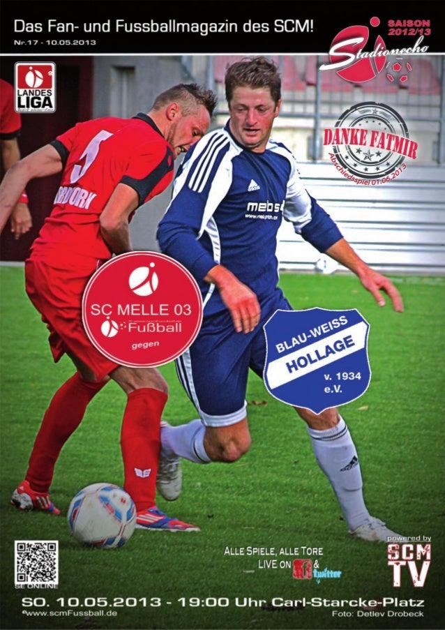 Ausgabe 17 –Mai 2013StadionEcho online scmFussball.de2