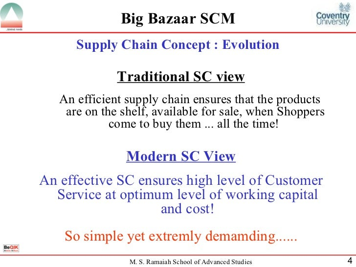 supply chain of big bazaar Companies see the power of using big data to assess risk in the supply chain but most still see deploying predictive analytics as too costly.