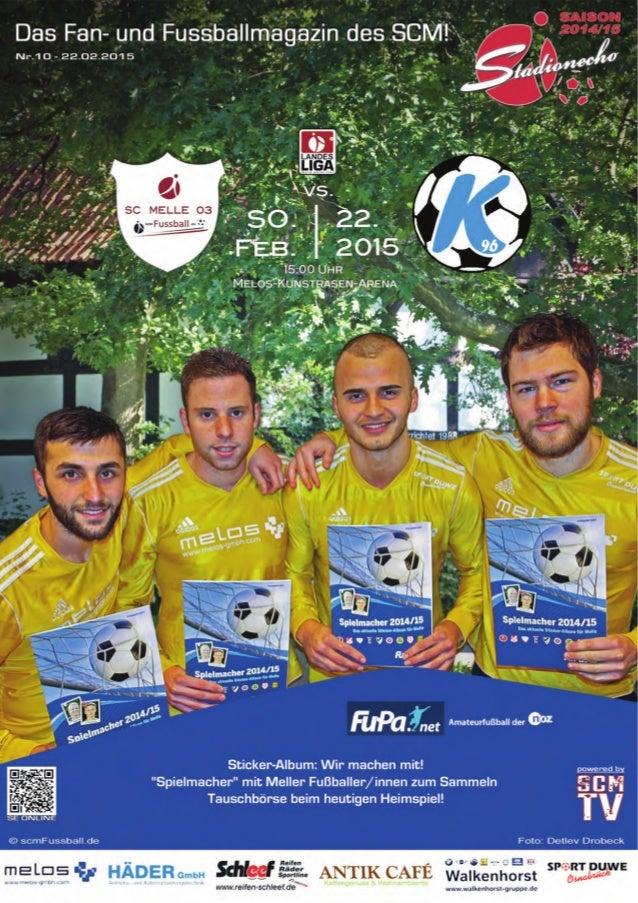 2 StadionEcho online scmFussball.de Die leckeren Torten zum heutigen Spiel wurden wieder gestiftet vom: