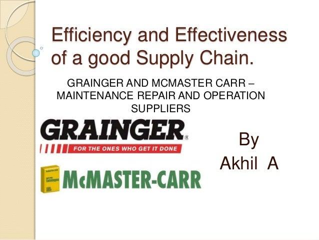 GRAINGER AND MCMASTER CARR – MAINTENANCE REPAIR AND ...