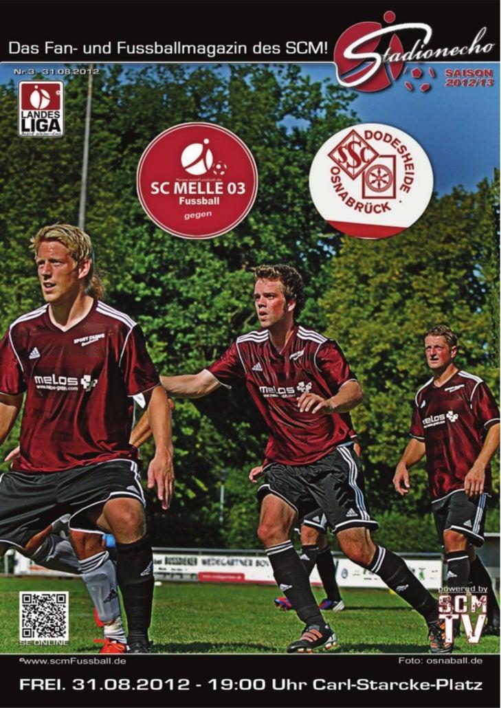 Ausgabe 3 / August 2012StadionEcho online        scmFussball.de2