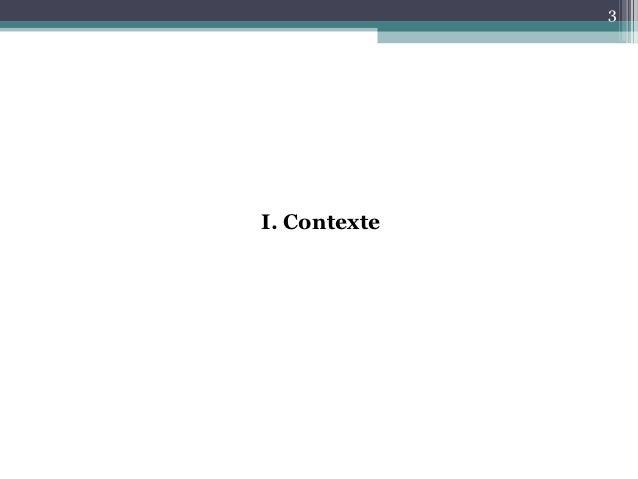 3I. Contexte