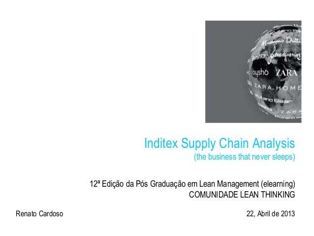 Inditex Supply Chain Analysis(the business that never sleeps)12ª Edição da Pós Graduação em Lean Management (elearning)COM...