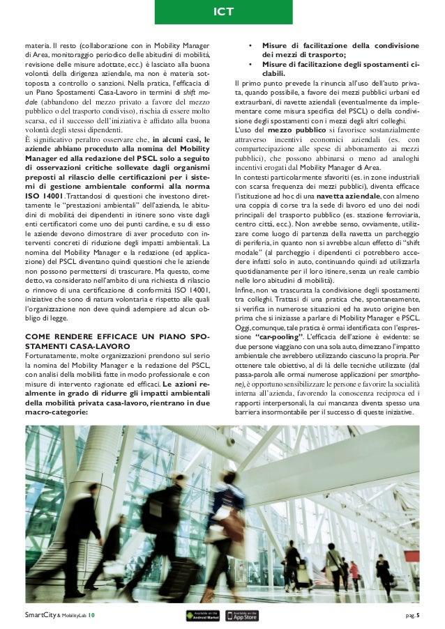 Il Mobility Manager ed il Piano Spostamenti Casa-Lavoro: dagli obblighi di legge all'efficacia degli interventi Slide 2