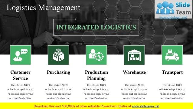 Scm Logistics Management PowerPoint Presentation Slides