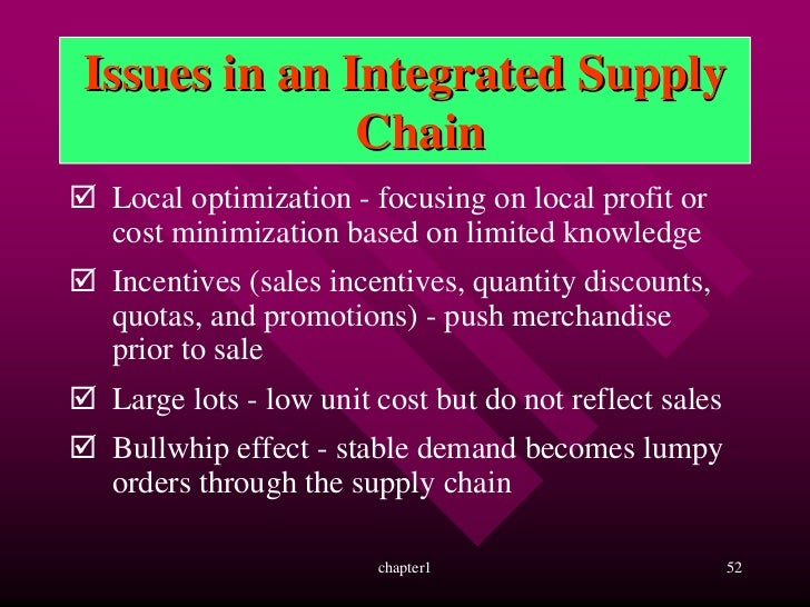 supply chain local optimization large lot incentives discount However, a supply chain consists of multiple independent  to work together in a  supply chain, incentive conflicts may hamper the ability of  helps a supplier to  reduce the batch size while the retailer increases safety stock  large initial  inventory purchases to secure price discounts from the supplier.