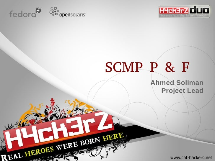SCMP P & F      Ahmed Soliman        Project Lead