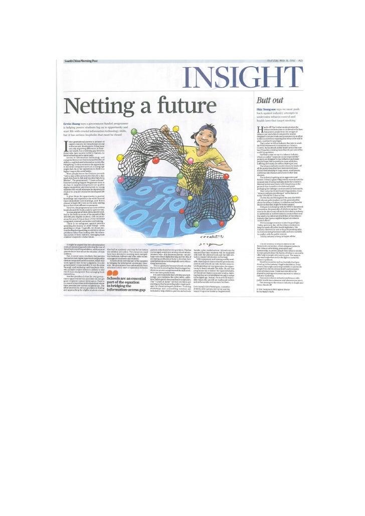 Netting a future (SCMP)