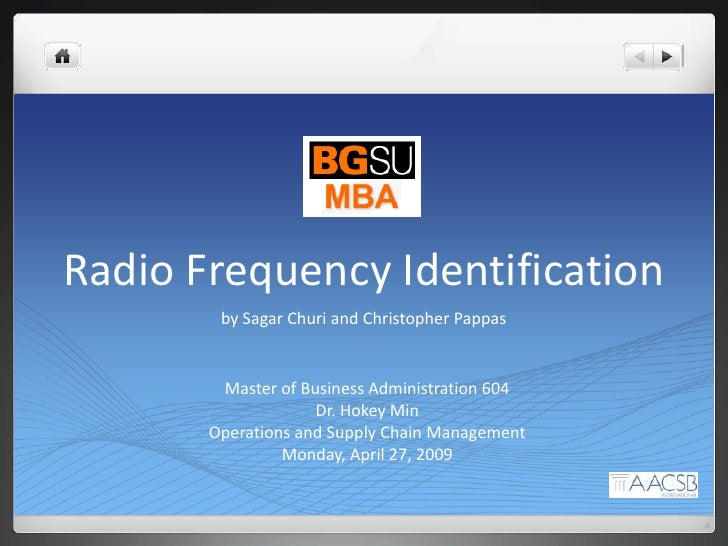Thesis on radio frequency identification